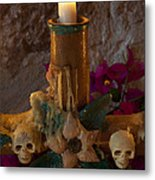 Candle On Day Of Dead Altar Metal Print