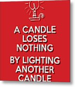 Candle Red Metal Print