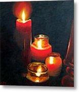 Candles And Lamp Metal Print