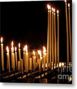 Candles In Church Metal Print