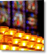 Candles In Notre Dame Metal Print