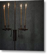 Candles In The Dark Metal Print