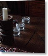 Candles In The Morning Metal Print