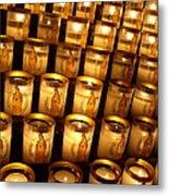 Candles Of Cathedrale Notre Dame De Paris Metal Print