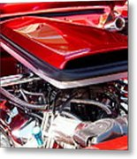 Candy Apple Red Horsepower - Ford Racing Engine Metal Print