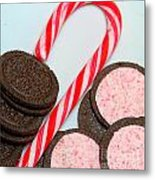 Candy Cane -  Cookies - Sweets Metal Print