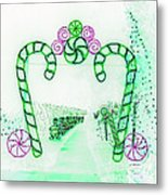 Candy Cane Christmas 5 Metal Print