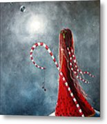 Candy Cane Fairy By Shawna Erback Metal Print
