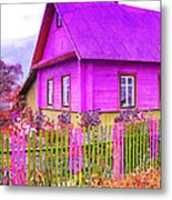 Candy Cottage - Featured In Comfortable Art Group Metal Print