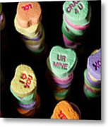 Candy Heart Towers Metal Print