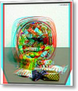 Candy Jar - Use Red-cyan Filtered 3d Glasses Metal Print