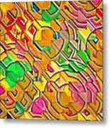 Candy - Lolly Pop Abstract  Metal Print