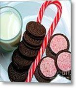 Candycane  Cookies - Milk - Cookies Metal Print