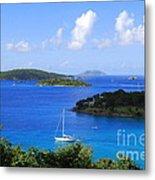 Caneel Bay In St. John In The U. S. Virgin Islands Metal Print