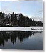 Winter Mountain Calm - Canmore, Alberta Metal Print
