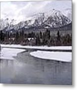 Canmore Winter Metal Print