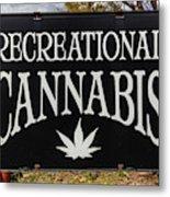Cannabis Marijuana Store In Ridgway Metal Print