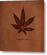 Cannabis Sativa Phone Case Metal Print