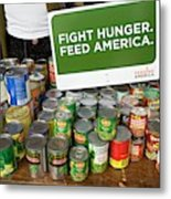 Canned Goods For Food Banks Metal Print