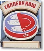 Cannery Row Directory At The Monterey Bay Aquarium California 5d25020 Metal Print