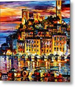 Cannes-france - Palette Knlfe Oil Painting On Canvas By Leonid Afremov Metal Print