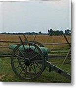 Cannon At Gettysburg Metal Print