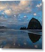 Cannon Beach Calm Morning Tidal Flats Metal Print