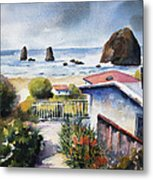 Cannon Beach Cottage Metal Print