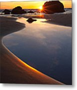 Cannon Beach Sunset Vertical Metal Print