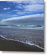 Cannon Beach Surf And Storm Metal Print