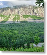 Cannon Cliff - Franconia Notch State Park New Hampshire Usa  Metal Print