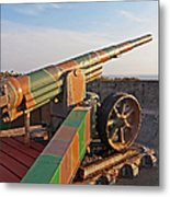 Cannon In Fortress Metal Print
