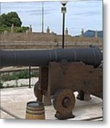 cannon of the old fort Corfu Metal Print