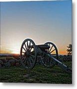 Cannon On Cemetery Ridge Gettysburg Metal Print