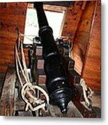 Cannon On Sailship Metal Print