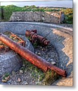 Cannon Remains From Ww2 Metal Print