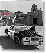 Cannonball Run 2  Brothel Set   Mexican Plaza Old Tucson Arizona 1984 Metal Print