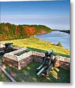 Cannons Overlooking The River Metal Print