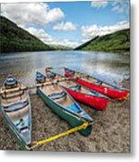 Canoe Break Metal Print by Adrian Evans