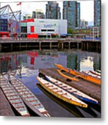 Canoe Club And Telus World Of Science In Vancouver Metal Print