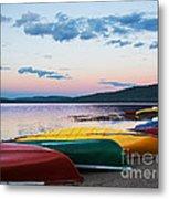 Canoe Colourama Metal Print