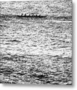Canoe Glitter Metal Print