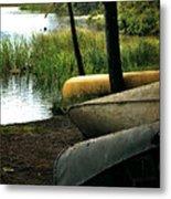 Canoe Trio Metal Print