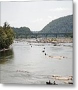Canoeing On The Potomac River At Harpers Ferry Metal Print