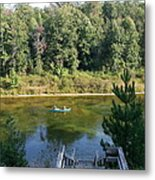 Canoeing Michigan's Au Sable Metal Print