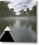 Canoeing The Ozarks Metal Print