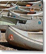 Canoes 143 Metal Print
