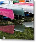 canoes - Lake Wingra - Madison  Metal Print