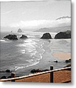 Canon Beach Metal Print