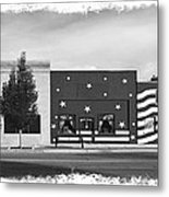 Canon City Facades - Black And White Edge Burn Metal Print